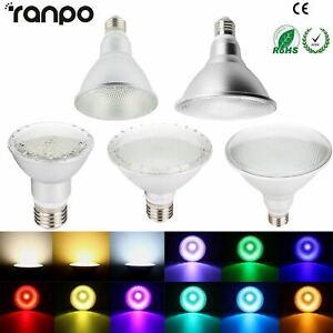 Dimmable RGB Waterproof LED PAR20 PAR30 PAR38 Light Lamp E27 14W 15W 24W 25W 30W