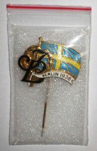 Games of the XI Olympiad BERLIN 1936 Sweden Swedish Press IB Idrottsbladet Pin