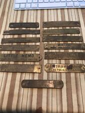 Lot Of 13 Brass Equine Barn Stall Halter Plate War Admiral Horse Original (m1)