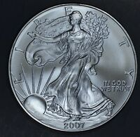 2007 1 oz AMERICAN SILVER EAGLE BRILLIANT UNCIRCULATED ASE  SKU2007B