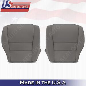 LEFT & RIGHT Bottoms Leather Cover Gray Fits 2007 2008 2009 2010 2011 Honda CR-V