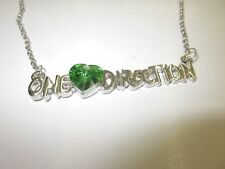 Two One Direction Fashion Necklace with Green Crystal