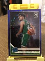 2019-20 Optic Carsen Edwards Purple Disco Holo /95 Rookie SP Celtics #196