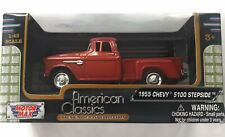 1955 Chevy 5100 Stepside Pick Red 1:43 Motor Max American Classics Model Diecast
