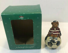 Boyds Holiday #257114 * Teddy Bear Soccer Player Ornament