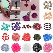 100pcs DIY Sealing Wax Beads Retro Seal Stamp Wedding Invitation Card Decoration