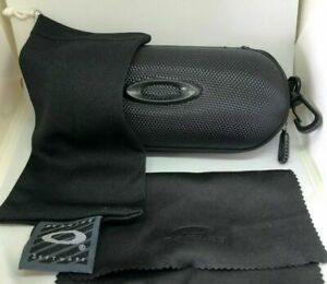 Oakley Sunglasses/Eyeglasses Hard Zipper Case w/ cleaning cloth and dust bag