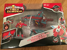 Power Rangers Super Samurai Red Ranger & Shark Megazord New in Box Vendeur Britannique