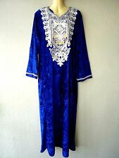 Abaya Maxikleid Jellabiya Samtkleid Winterkleid arabisches Kleid Abendkleid