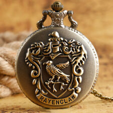 Harry Potter Ravenclaw Eagle Men Quartz Pocket Watch Vintage Bronze Necklace Hot