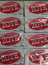 4 Zote Pink Laundry Soap Bars  Hand Wash Great for Stains Citronella 14 oz 400g