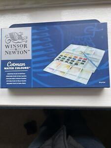Winsor and Newton Cotman Water Color Paints, Set of 24 Half Pans (0390376)