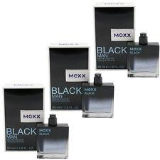 MEXX BLACK MAN Eau de Toilette EdT Spray 3 x 50 ml for man