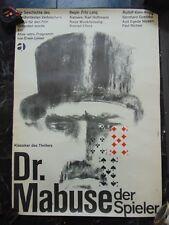 "Fritz Lang Dr Mabuse 23 1/4X 33 7/8"" Polish 1970's Movie Poster #M8758"