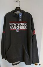 New York Rangers adidas Authentic NHL Squad Pullover Hoody XL