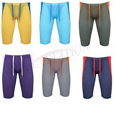 Mens Compression Sports Shorts Pants Stretch Tights Running Workout Gym Trousers