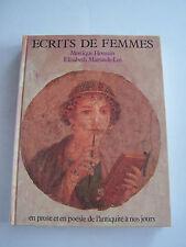 ECRITS DE FEMMES EN PROSE ET EN POESIE . 240 PAGES  . BON ETAT