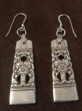 VINTAGE SPOON/ FORK EARRINGS 1936 CORONATION Oneida Silverware Jewelry