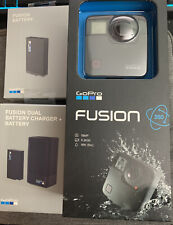 GoPro Fusion 360 Degree Action Camera, 2 Extra Batteries And DuelBattery Charger