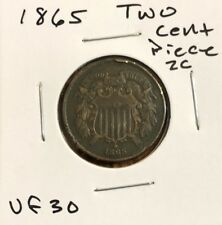 2c 1865 Two Cent Piece - Very Fine (VF) Coin