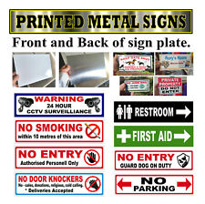 Safety Sign printed on Metal