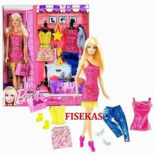 Fashion Barbie Fab Life Doll 3 Complete Outfits Accessories Set 2011 X4861 NEW