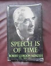Speech is of Time   Selected Speeches and Writings