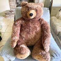 "27"" MELISSA & DOUG TEDDY BEAR PLUSH STUFFED JUMBO ANIMAL BROWN OVERSIZE TOY"