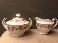 Valmont China Briar Rose Creamer and Covered Sugar with Lid  EXCELLENT CONDITION