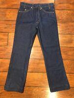 vtg LEVI'S Stiff Denim 575 Jeans 32x31 Dead Stock USA Indigo Blue Orange Tab