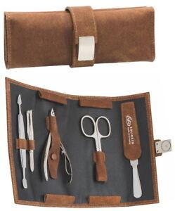 Wickeletui Manicure Case Steel Leather Skin-Pliers Becker-Manicure Erbe Solingen