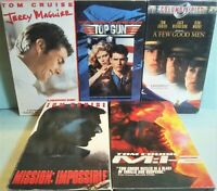 Lot of 5 Tom Cruise  movies - VHS TAPES - Mission Impossible, M:i-2, Top Gun ...
