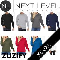 Next Level Apparel French Terry Raglan Crewneck Sweatshirt. N9000