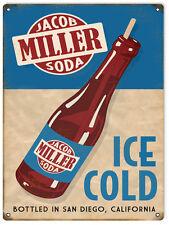 Reproduction Jacob Miller Soda San Diego Sign 9X12