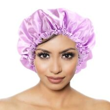 Adjustable Double Layered Satin Silk Deep Conditioner And Shower Bonnet Caps