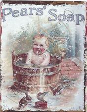 PEARS SOAP (tub) BATHROOM METAL SMALL SIGN  pub bar shop cafe tea room tin art