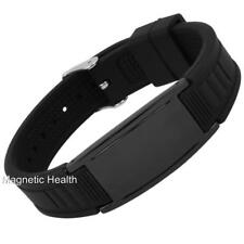 MENS MAGNETIC SILICONE HEALING WRISTBAND SPORTS BRACELET ARTHRITIS PAIN RELIEF