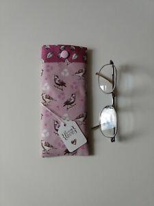 Glasses Case/Pouch. Handmade In Debbie Shore Designer Fabric. Lovely Gift New.