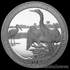 2014 S Everglades National Park FL ~ Mint Clad Proof US Coin from Original Set
