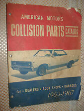 1963-1967 AMERICAN MOTORS COLLISION PARTS BOOK ORIGINAL AMC CATALOG 64 65 66