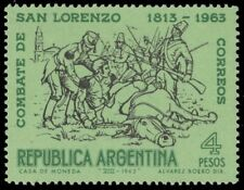 ARGENTINA 749 (Mi824) - Battle of San Lorenzo 150th Anniversary (pf21387)