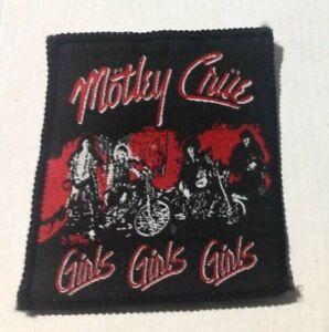 Motley Crue Girls Girls Girls vintage 1980s SEW ON PATCH