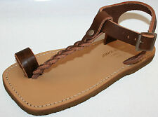 Junya Watanabe Comme des Garcons brown leather flats NEW sz 37 or 7 sandals