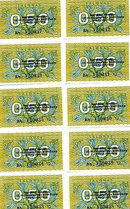 LOT Lithuania, 10 x 0.50 Talonas, 1991, First EX-USSR, P-31 (31b), UNC