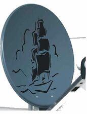 Tattoo Aufkleber für Sat.-Schüssel Segelschiff Größe 50cm x 35cm in div. Farben