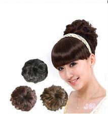 Haarteil Zopf XL Dutt Neu  leicht gelockt 13-14-16cm Dm Haarverlängerung