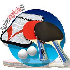 BOUNCE 2er Tischtennisschläger SET Tischtennis Ping Pong 2 Bälle Tischtennisball