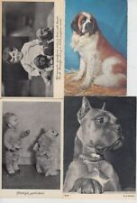CHIEN DOGS 38 Mostly Real Photo Cartes Postales 1900-1940
