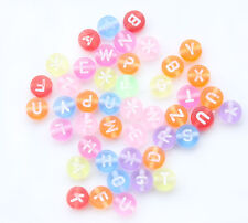 Free Shipping 230pcs Mixed Transparent Acrylic Alphabet/Letter Beads 7mm L007