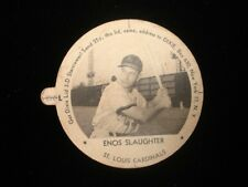 1954 Enos Slaughter St. Louis Cardinals Dixie Lid with Tab EX